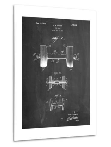 Dumbbell Patent-Cole Borders-Metal Print
