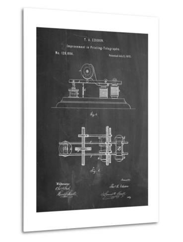Edison Printing Telegraph Patent Art-Cole Borders-Metal Print