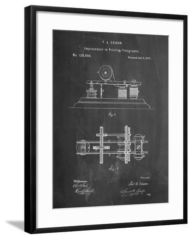 Edison Printing Telegraph Patent Art-Cole Borders-Framed Art Print