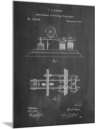 Edison Printing Telegraph Patent Art-Cole Borders-Mounted Art Print