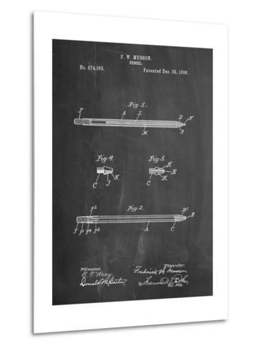 Pencil Patent-Cole Borders-Metal Print