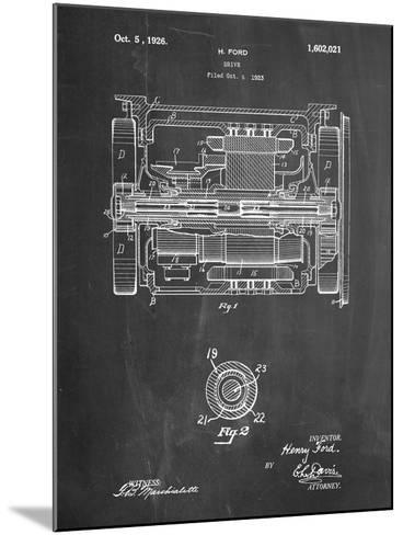 Train Transmission Patent-Cole Borders-Mounted Art Print