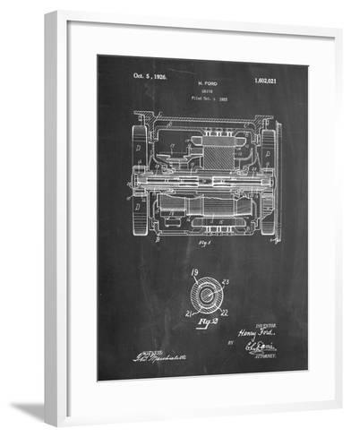 Train Transmission Patent-Cole Borders-Framed Art Print