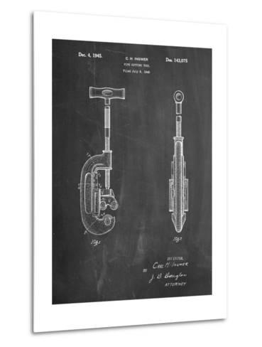 Pipe Cutting Tool Patent-Cole Borders-Metal Print