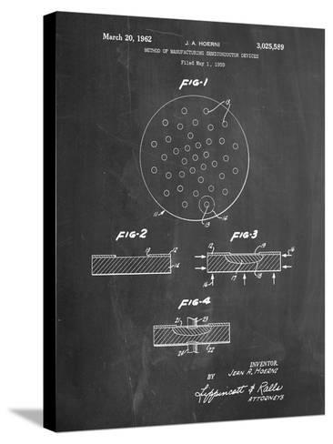 Transistor Semiconductor Patent-Cole Borders-Stretched Canvas Print