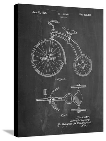 Tricycle Patent-Cole Borders-Stretched Canvas Print