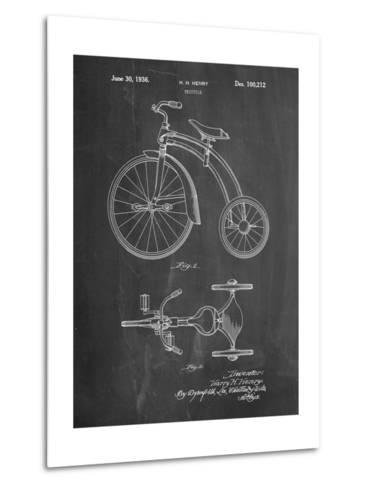 Tricycle Patent-Cole Borders-Metal Print