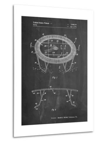 Trampoline Patent-Cole Borders-Metal Print