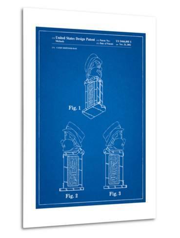 Pez Dispenser Patent-Cole Borders-Metal Print