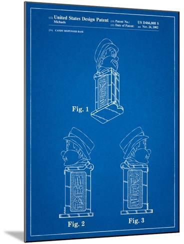 Pez Dispenser Patent-Cole Borders-Mounted Art Print