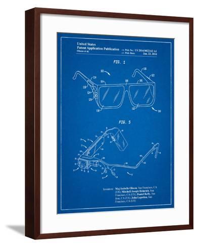 Google Glass Patent-Cole Borders-Framed Art Print