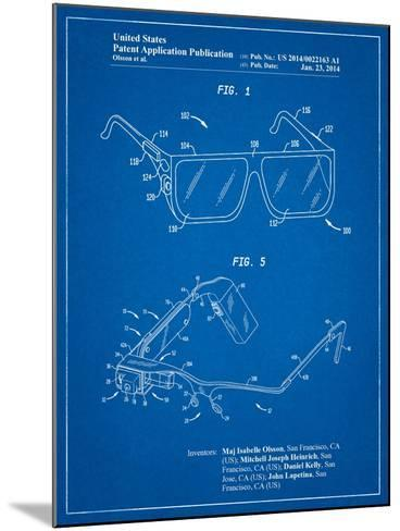 Google Glass Patent-Cole Borders-Mounted Art Print