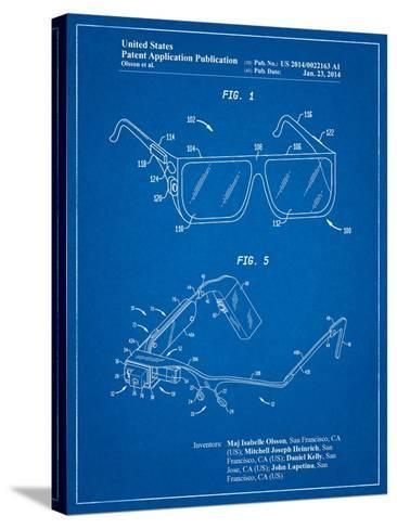 Google Glass Patent-Cole Borders-Stretched Canvas Print