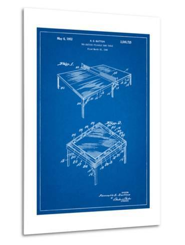 Ping Pong Table Patent-Cole Borders-Metal Print