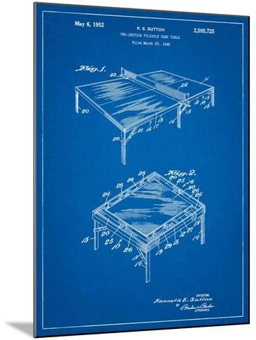 Ping Pong Table Patent-Cole Borders-Mounted Art Print