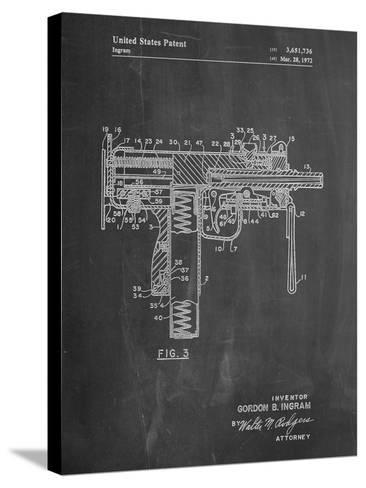 Mac-10 UZI Patent-Cole Borders-Stretched Canvas Print