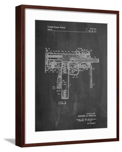 Mac-10 UZI Patent-Cole Borders-Framed Art Print