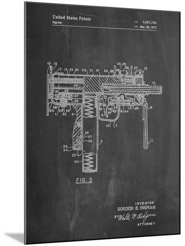 Mac-10 UZI Patent-Cole Borders-Mounted Art Print