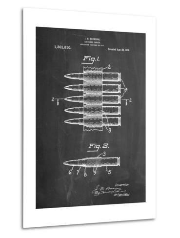 Machine Gun Bullet Carrier Belt Patent-Cole Borders-Metal Print