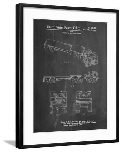 Lockheed Ford Truck and Trailer Patent-Cole Borders-Framed Art Print