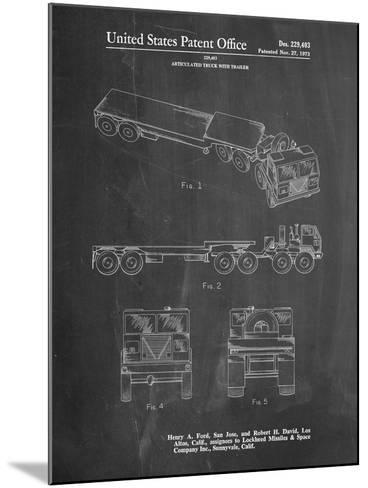 Lockheed Ford Truck and Trailer Patent-Cole Borders-Mounted Art Print