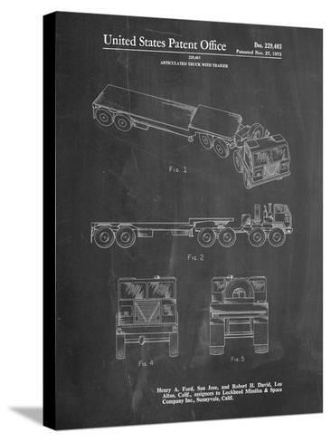 Lockheed Ford Truck and Trailer Patent-Cole Borders-Stretched Canvas Print