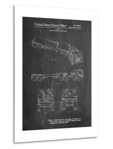 Lockheed Ford Truck and Trailer Patent-Cole Borders-Metal Print