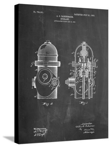 Fire Hydrant 1903 Patent-Cole Borders-Stretched Canvas Print