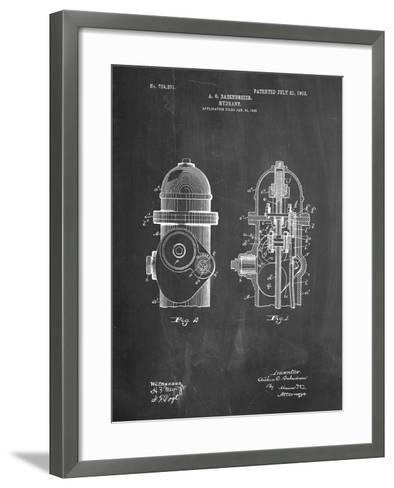 Fire Hydrant 1903 Patent-Cole Borders-Framed Art Print