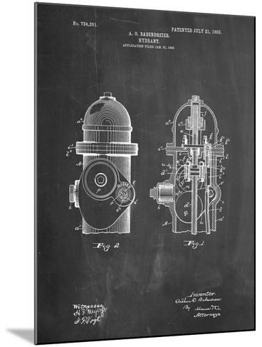 Fire Hydrant 1903 Patent-Cole Borders-Mounted Art Print