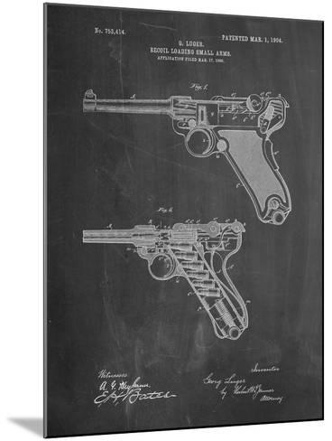 Luger Pistol Patent-Cole Borders-Mounted Art Print
