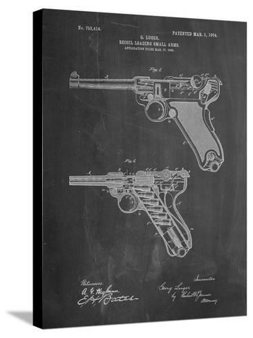 Luger Pistol Patent-Cole Borders-Stretched Canvas Print