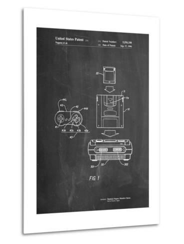 Super Nintendo Console Remote and Cartridge Patent-Cole Borders-Metal Print