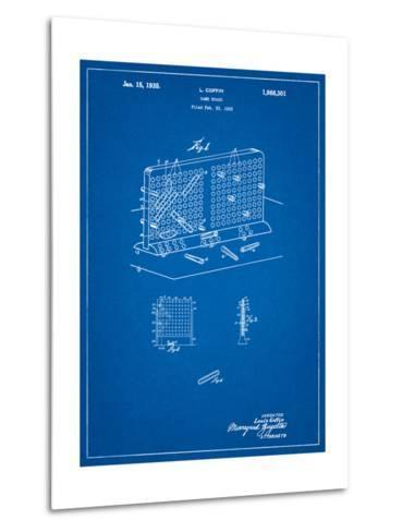 Battleship Game Patent-Cole Borders-Metal Print