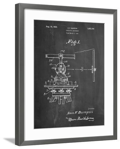 Surveyor's Transit 1891 Patent-Cole Borders-Framed Art Print