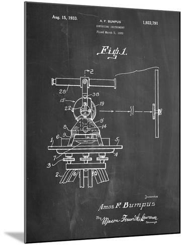 Surveyor's Transit 1891 Patent-Cole Borders-Mounted Art Print