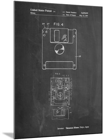 3 1/2 Inch Floppy Disk Patent-Cole Borders-Mounted Art Print