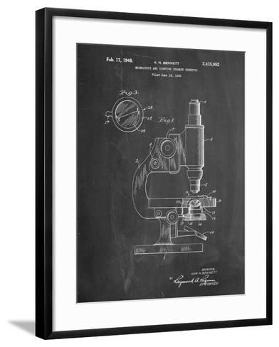 Antique Microscope Patent-Cole Borders-Framed Art Print
