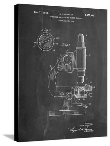 Antique Microscope Patent-Cole Borders-Stretched Canvas Print