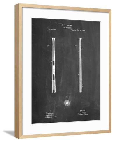 Antique Baseball Bat 1885 Patent-Cole Borders-Framed Art Print