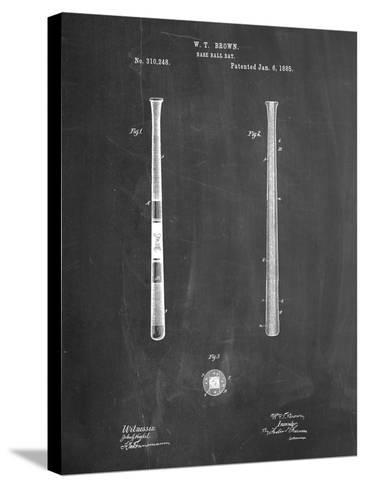 Antique Baseball Bat 1885 Patent-Cole Borders-Stretched Canvas Print