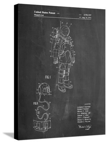 Apollo Space Suit Patent-Cole Borders-Stretched Canvas Print