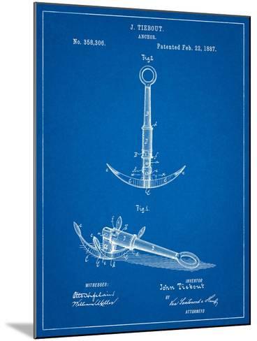 Folding Grapnel Anchor Patent-Cole Borders-Mounted Art Print