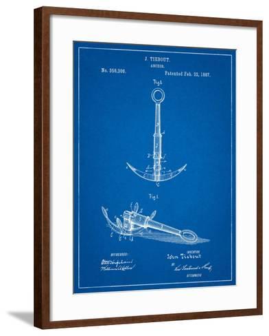 Folding Grapnel Anchor Patent-Cole Borders-Framed Art Print