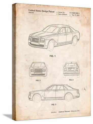Bentley Phantom Patent-Cole Borders-Stretched Canvas Print