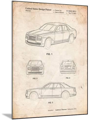 Bentley Phantom Patent-Cole Borders-Mounted Art Print