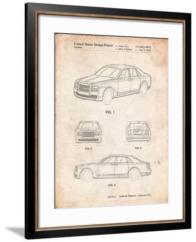 Bentley Phantom Patent-Cole Borders-Framed Art Print