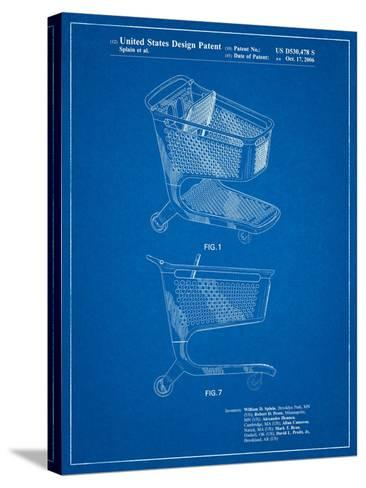 Target Shopping Cart Patent-Cole Borders-Stretched Canvas Print