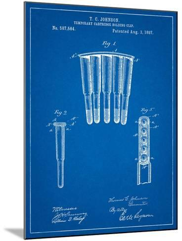 Temporary Cartridge Holding Clip 1897 Patent-Cole Borders-Mounted Art Print