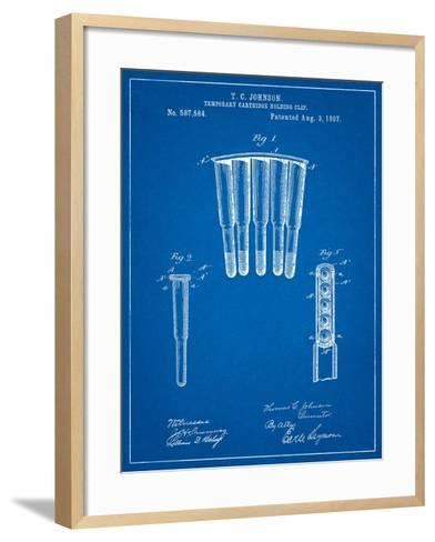 Temporary Cartridge Holding Clip 1897 Patent-Cole Borders-Framed Art Print